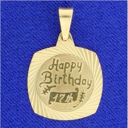 """Happy 17th Birthday"" Pendant"