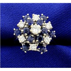 High Quality Diamond & Sapphire Ring