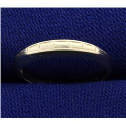 White Gold Band Ring