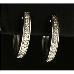 1/3ct TW Diamond Hoop Earrings