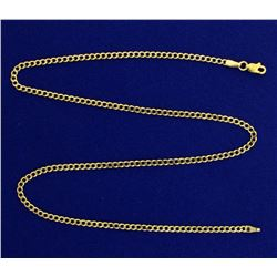 16 Inch Link Italian Made Neck Chain