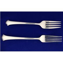 Towle Chippendale Sterling Fork and Salad Fork Set