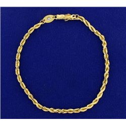 7 1/4 Inch Rope Bracelet with diamond