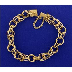 Interlocked Chain Charm Bracelet