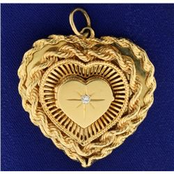 Heart Locket Diamond Pendant