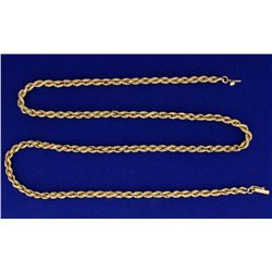 23 1/2 Inch Rope Style Neck Chain