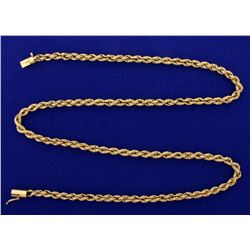 20 3/4 Inch Rope Neck Chain