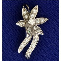 1/2 ct TW Diamond Flower Pendant