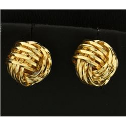 Knot Style Gold Earrings