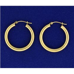 1 Inch Hoop Earrings