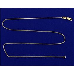 17 Inch Ball Link Neck Chain