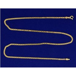 18 Inch Flat Box Link Neck Chain