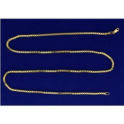 22 Inch Heavy Box Link Neck Chain