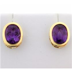 5ct TW Amethyst Earrings