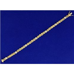 Italian Made Intricate Woven S Link Diamond Bracelet