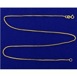 16 Inch Box Link Neck Chain
