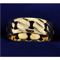 Men's Cutout Band Ring