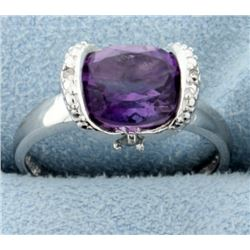 Modern Tension Set Amethyst Ring