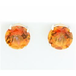 Huge Azotic Topaz Stud Earrings