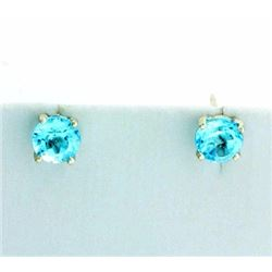 2ct TW Sky Blue Topaz Stud Earrings