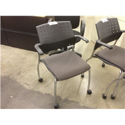 GLOBAL STACKING MOBILE CLIENT CHAIR
