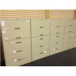 STEELCASE BEIGE 5 DRAWER LATERAL FILE CABINET