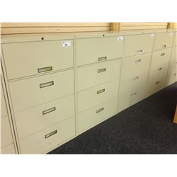 STEELCASE BEIGE 4 DRAWER LATERAL FILE CABINET