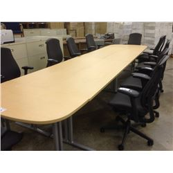 HERMAN MILLER MAPLE MODULAR CONFERENCE TABLE