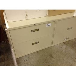 STEELCASE BEIGE 2 DRAWER LATERAL FILE CABINET