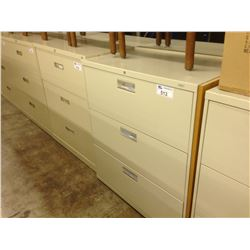 BEIGE 3 DRAWER LATERAL FILE CABINET