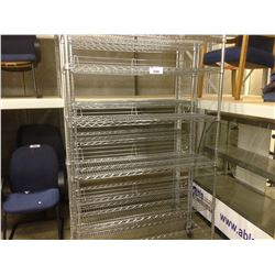 LOT OF 2 6' STAINLESS STEEL METRO RACKS