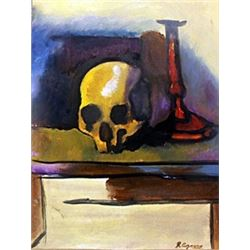 Skull on the Table - Paul Cezanne