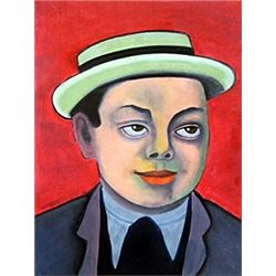 Self Portrait - Oil Painting - Diego Rivera