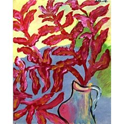 Vase of Flowers - Oil on Paper - Chalm Soutine