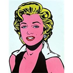 Marilyn Monroe - Oil on Paper - R. Lichtenstein