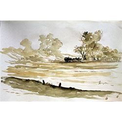 Untitled - Watercolor Painting- Johannes Leupenius,