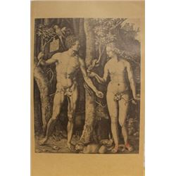 "Museum Lithograph ""Adam and Eve (The Fall of Man)"" after Albrecht Durer"
