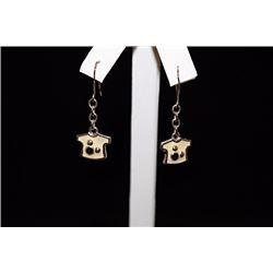 Beautiful T-Shirt Silver Earrings (13E)