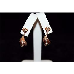 Fine 14kt Rose Gold over Silver Earrings (19E)