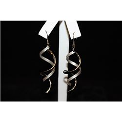 Dazzling Swirled Silver Earrings (24E)