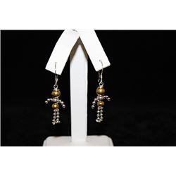 Dazzling Body Figure Silver Earrings (34E)