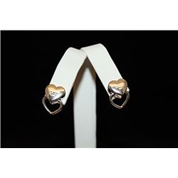 Stunning T & Co. Double Heart Earrings (40E)
