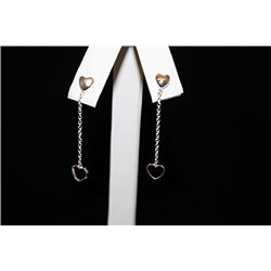 Gorgeous Hearts Silver Earrings (55E)