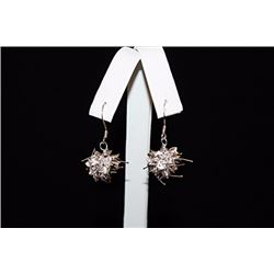 Lavish Cluster Ball Silver Earrings (58E)