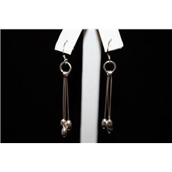 Fine Dangling Silver Earrings (69E)