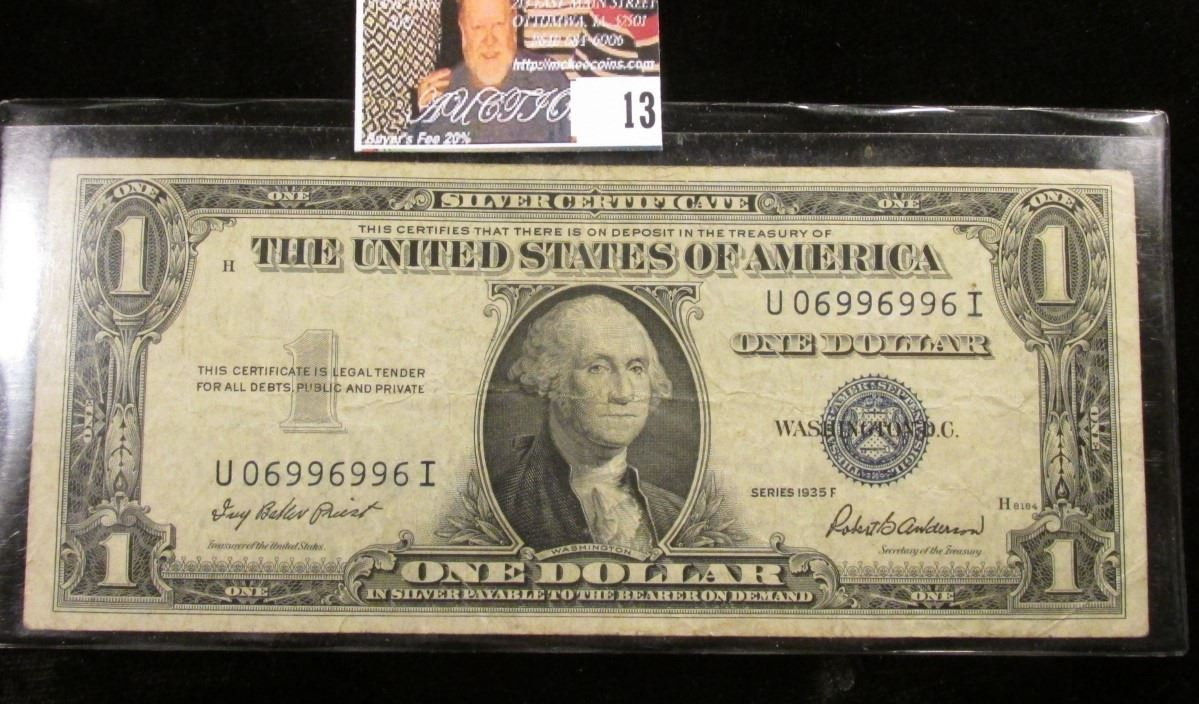 Series 1935f Us One Dollar Silver Certificate