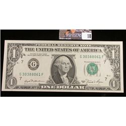 Series 1981 U.S. One Dollar Federal Reserve Note. CU.