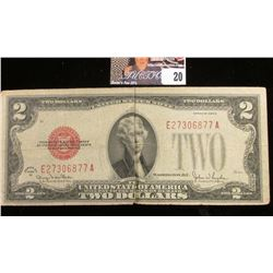 Series 1928G Two Dollar U.S. Note with Red Seal.