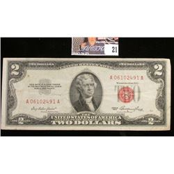 Series 1953 Two Dollar U.S. Note with Red Seal.