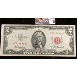 Series 1953A Two Dollar U.S. Note with Red Seal.